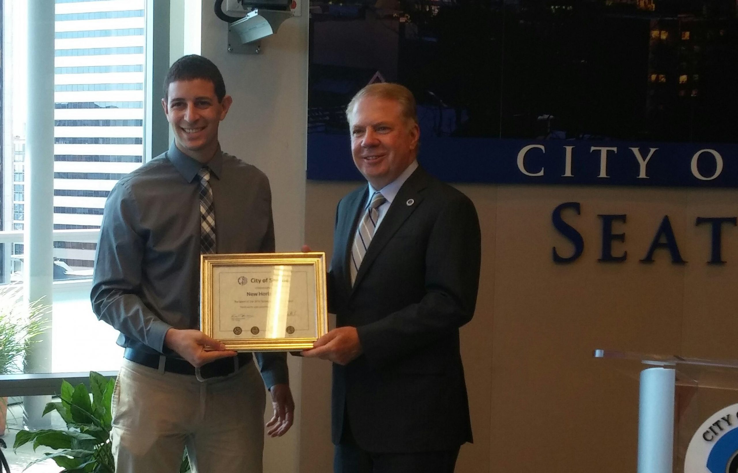 New Horizons Awarded City of Seattle's $10,000 Technology Grant